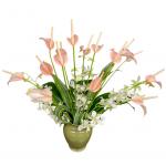 Pink Tulip Anthurium Bouquet