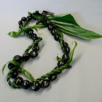 Kukui Nut with Ti Wrap Lei
