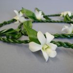 Single Ti Leaf Lei with Orchid Accents