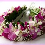 Multicolored Orchid Haku (head) Lei
